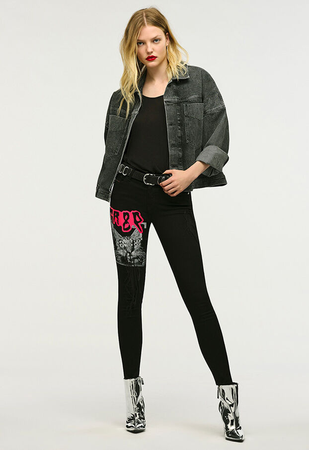 Slandy 069KX, Black/Dark grey - Jeans