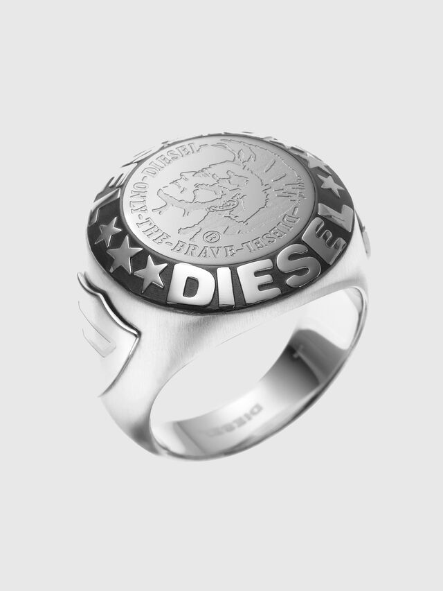 Diesel RING WITH AN INDIAN, Silver - Rings - Image 1