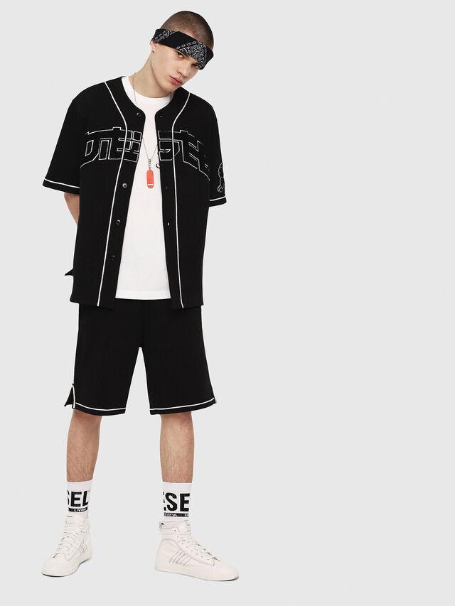 Diesel - P-KOU-TAPE, Black - Shorts - Image 4