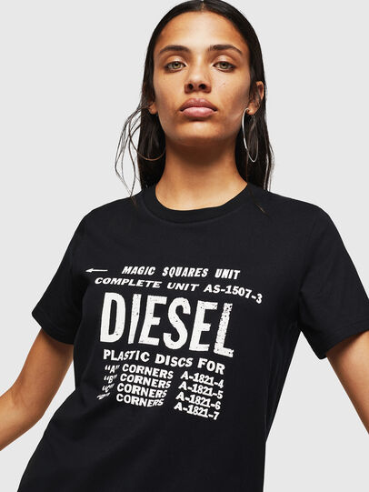 Diesel - T-SILY-ZF, Black - T-Shirts - Image 3