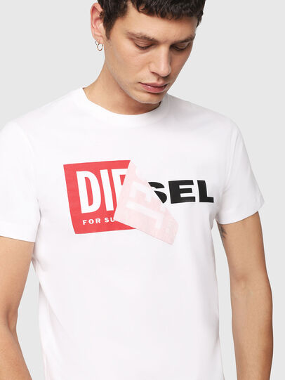 Diesel - T-DIEGO-QA, White - T-Shirts - Image 3