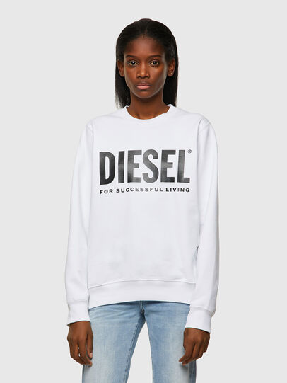 Diesel - F-ANGS-ECOLOGO, Black/White - Sweaters - Image 1