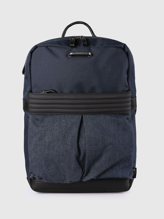 Diesel M-PROOF BACK, Blue Jeans - Backpacks - Image 1