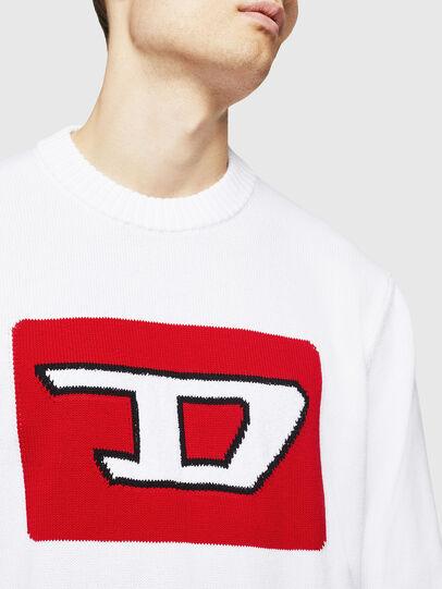 Diesel - K-LOGOX-B, White - Knitwear - Image 3