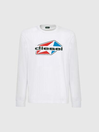 Diesel - T-DIEGOS-LS-K41, White - T-Shirts - Image 4