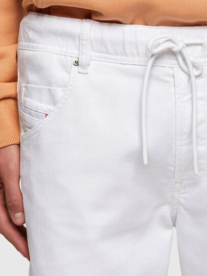 Diesel - D-KROOSHORT JOGGJEANS, White - Shorts - Image 3