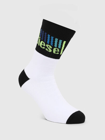 Diesel - SKM-RAY, White/Black - Socks - Image 1