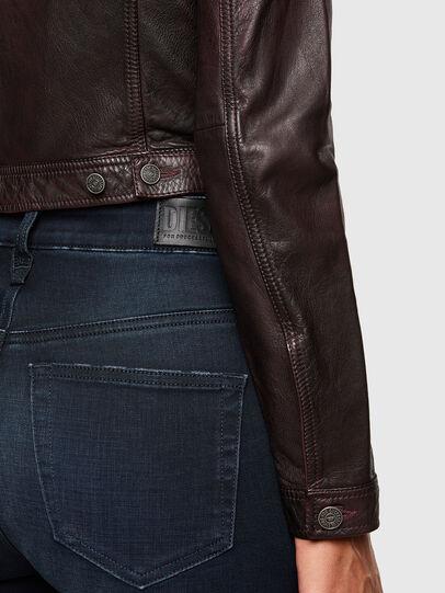 Diesel - L-SHAE, Dark Violet - Leather jackets - Image 4