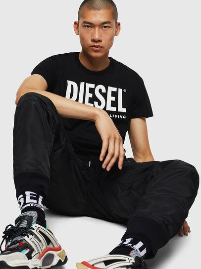 Diesel - T-DIEGO-LOGO, Black - T-Shirts - Image 5