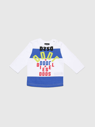 Diesel - TOLIB, White/Blue - T-shirts and Tops - Image 1