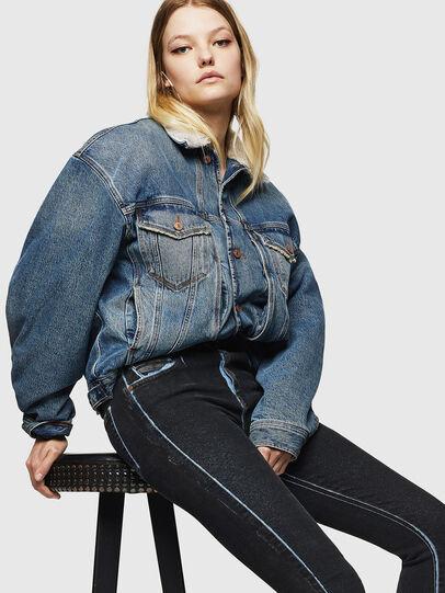 Diesel - Slandy High 0094B, Dark Blue - Jeans - Image 4