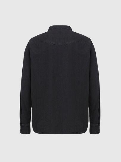 Diesel - D-EAST-P, Black - Denim Shirts - Image 2