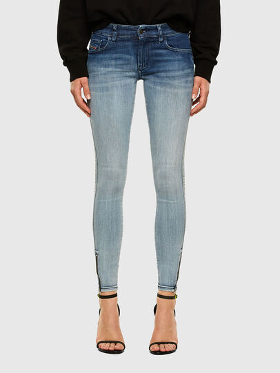Diesel - Slandy Low 009CV, Light Blue - Jeans - Image 1