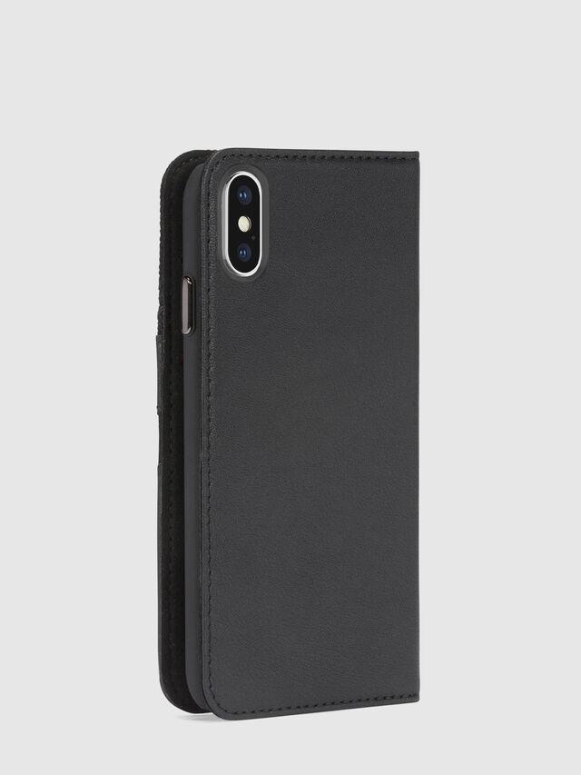 Diesel - BLACK DENIM/STUD/ZIPPER IPHONE X FOLIO, Black - Flip covers - Image 5