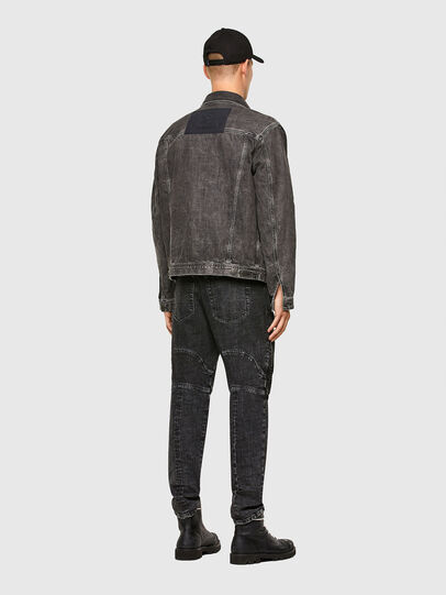 Diesel - NHILL-ROD-SP, Black - Denim Jackets - Image 7