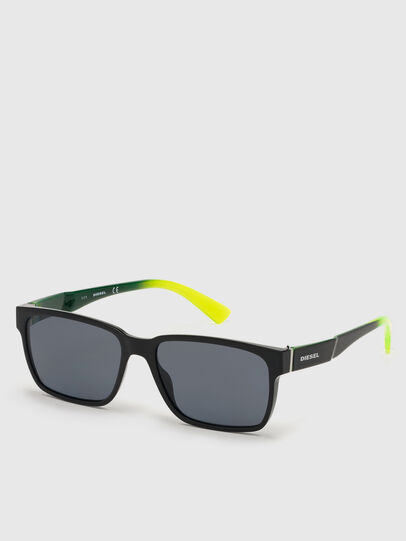 Diesel - DL0327, Black/Yellow - Sunglasses - Image 3