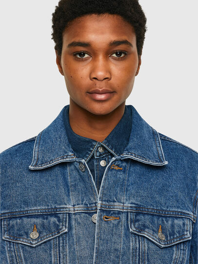 Diesel - NHILL-C1, Medium blue - Denim Jackets - Image 6