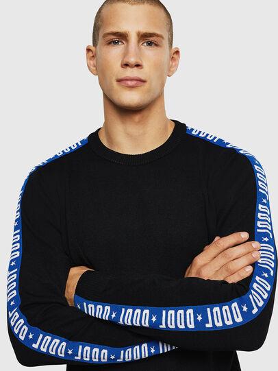 Diesel - K-TRACKY-B, Black/Blue - Knitwear - Image 3
