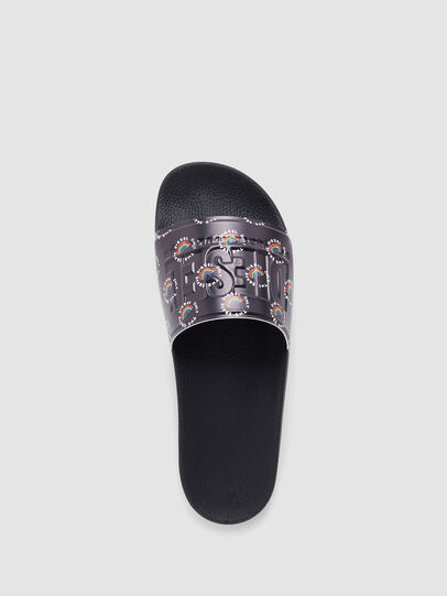 Diesel - SA-VALLA, Black - Slippers - Image 5