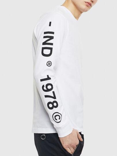 Diesel - T-JUST-LS-T14, White - T-Shirts - Image 3