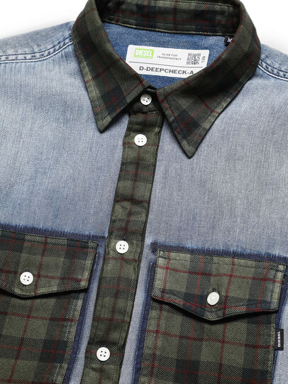 Diesel - D-DEEPCHECK-A, Light Blue - Denim Shirts - Image 3