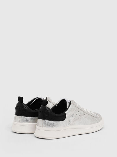 Diesel - SN LOW LACE 11 FULL, Silver/Black - Footwear - Image 3