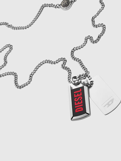 Diesel - DX1244, Silver - Necklaces - Image 2