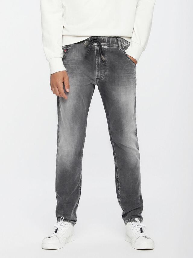 Diesel Krooley JoggJeans 0855B, Light Grey - Jeans - Image 1