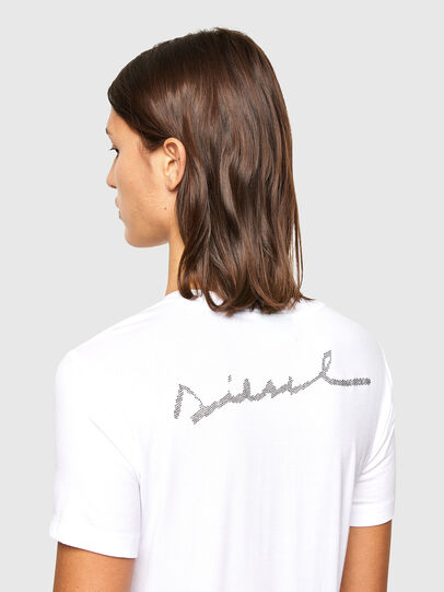 Diesel - T-SILY-R1, White - T-Shirts - Image 4