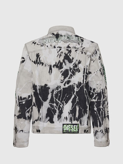 Diesel - NHILL-SP3, Black/White - Denim Jackets - Image 2