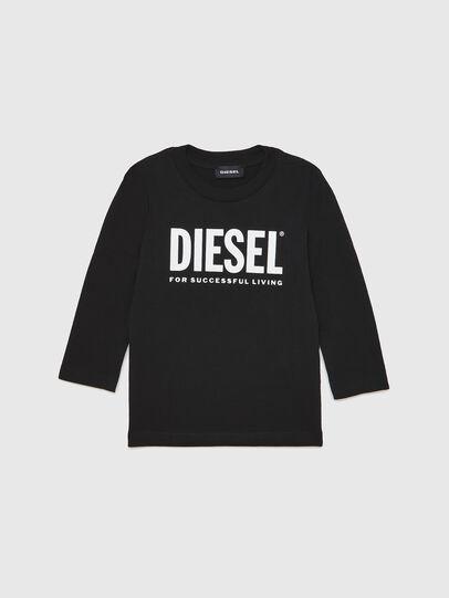 Diesel - TJUSTLOGOB ML-R, Black - T-shirts and Tops - Image 1