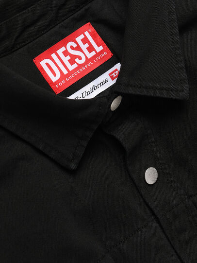 Diesel - GR02-B301, Black - Denim Shirts - Image 3