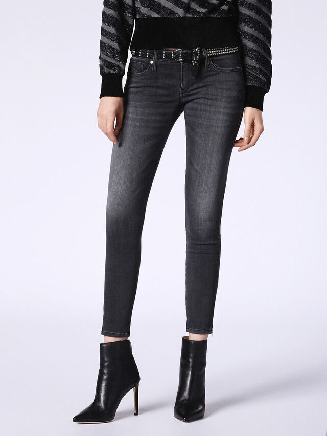SKINZEE-LOW-ZIP 0688F, Black Jeans