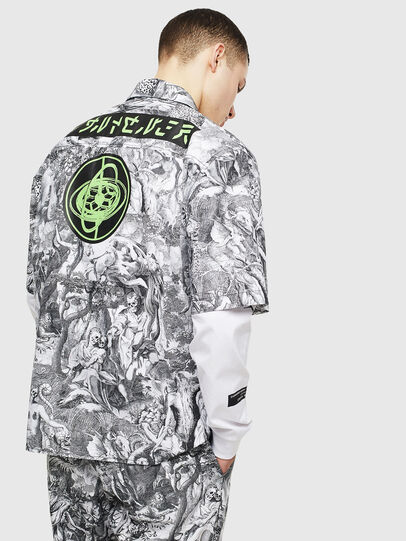 Diesel - S-WED-KAOS, Black/White - Shirts - Image 2