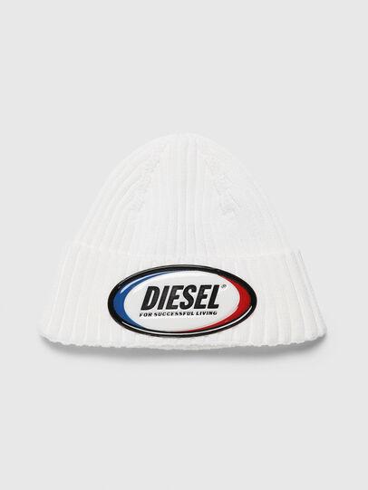 Diesel - K-DENNY, White - Knit caps - Image 1