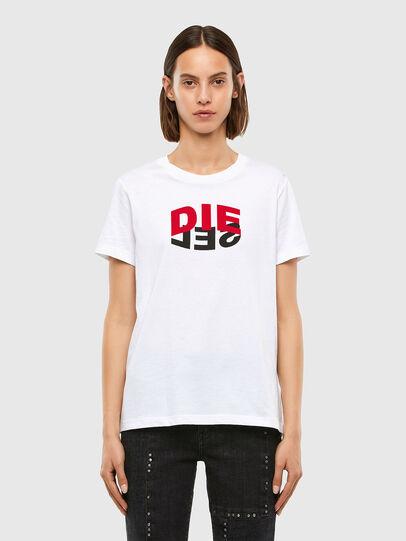 Diesel - T-SILY-V23, White - T-Shirts - Image 1