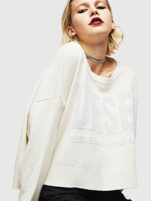 M-LUREXY, White - Knitwear