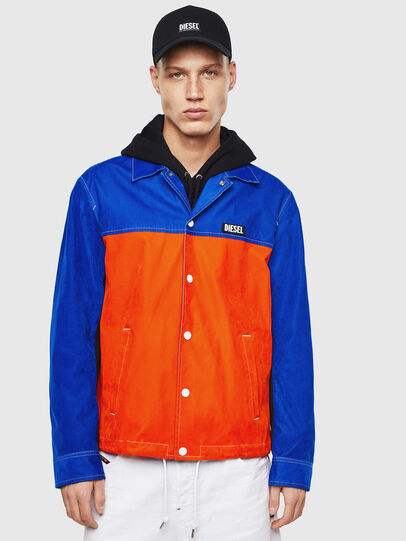 Diesel - J-BELL, Blue/Red - Jackets - Image 1