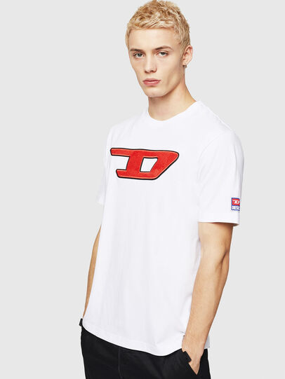 Diesel - T-JUST-DIVISION-D, White - T-Shirts - Image 1
