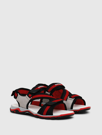 Diesel - SA 07 STRIPE YO, Grey/Red - Footwear - Image 2