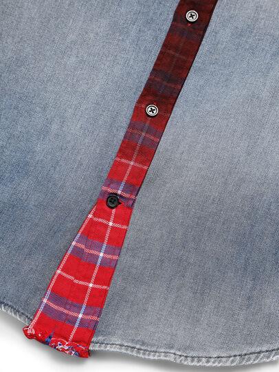 Diesel - D-DEEPCHECK-A, Blue/Red - Denim Shirts - Image 5
