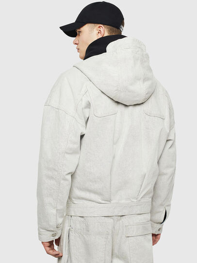 Diesel - D-EDDY, White - Denim Jackets - Image 2
