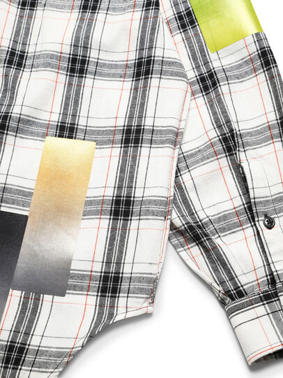 Diesel - D-GRADIENTCHECK, White/Black - Shirts - Image 7