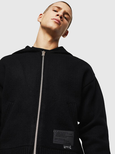 Diesel - K-NAVY, Black - Knitwear - Image 3