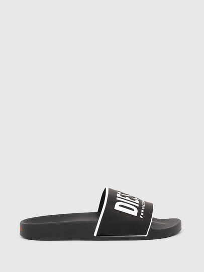 Diesel - SA-VALLA W, Black/White - Slippers - Image 1