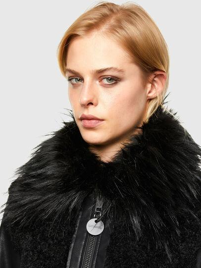 Diesel - L-LEDA, Black - Leather jackets - Image 3