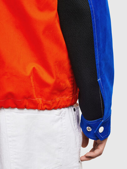 Diesel - J-BELL, Blue/Red - Jackets - Image 5