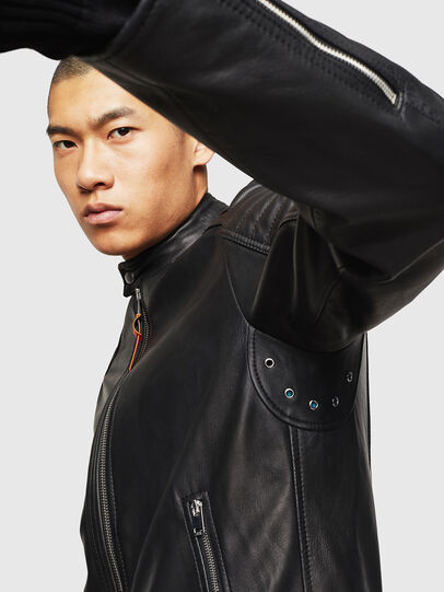Diesel - L-SHIRO, Black Leather - Leather jackets - Image 6