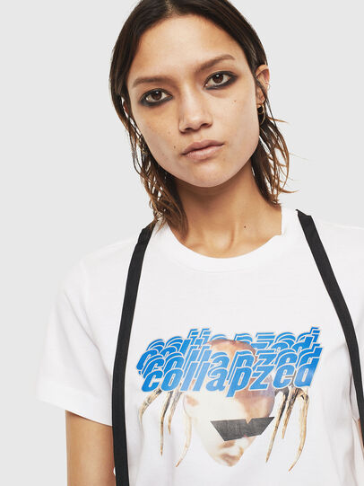 Diesel - T-SILY-S3, White - T-Shirts - Image 3