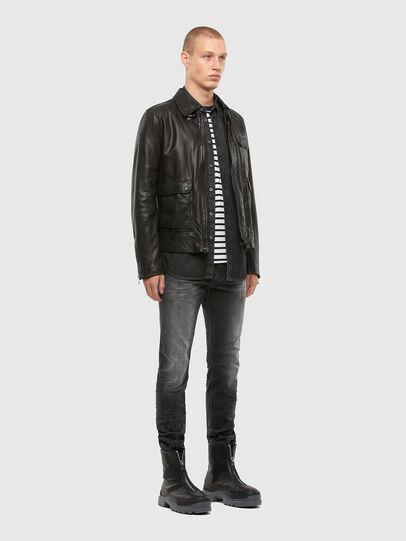 Diesel - L-LUC, Black - Leather jackets - Image 7